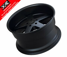 XXR 968 18X9 ET20 and 18X10.5 ET20 5x114 73.1mm FLAT BLACK - SET OF 4 WHEELS