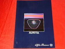 ALFA ROMEO Alfetta 2.0 2.0 Quadrifoglio Verde 2.4 TD Prospekt von 1983