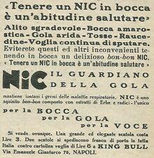W6408 NIC il guardiano della gola - Pubblicità 1929 - Advertising