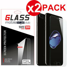 2 Pack Crystal Clear Real Tempered Glass Screen Protector for iPhone 7 Plus