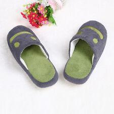 Lovely Smile Home Floor Soft Stripe Slippers Shoes Gray 40