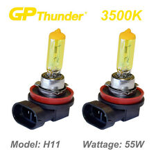 GP-Thunder 3500K Super Gold Xenon Halogen Light Bulbs Pair H11 55W