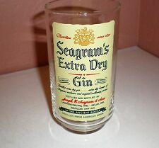 """Seagram's Extra Dry Gin """"In the Ancient Bottle"""" Collector Bar Glass"""