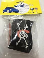 Pirate Flag  AERIAL BALL ANTENNA TOPPER +Spring Wobbler