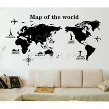World Map Removable PVC Vinyl Art Wall Sticker Room Decal Mural Home Decor DIY