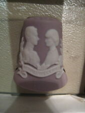 WEDGWOOD LILAC JASPER THIMBLE SPINNER CHARLES AND DIANA WEDDING 1981 BOXED