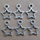50pc Tibetan Silver Charms Small Five-pointed star Accessories Wholesale B0103P