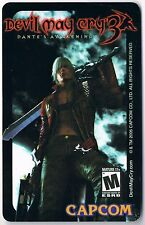 Devil May Cry 3 Dante's Awakening Promotional Card 2005