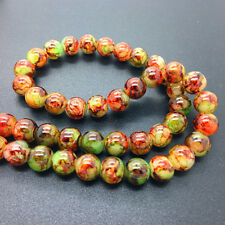 50Pcs 6mm Double Color Glass Pearl Round Spacer Loose Beads Jewelry Making 6#64