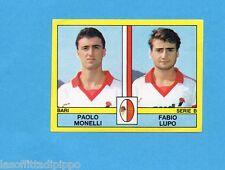 PANINI CALCIATORI 1988/89-Figurina n.387- MONELLI+LUPO - BARI -Recuperata