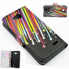 Flip Leather Wallet Credit Card Pocket Cover Case For LG Optimus L70/Dual SIM