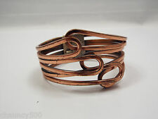 Vintage Rame Copper Modernist Hinged Bangle