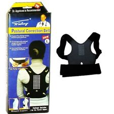 Back Posture Correction Belt Support Sport Corrector Brace Belt Unisex Black new