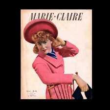 Dollshouse Miniatura periódico - 1943 Marie Claire, Francés Revista De Moda