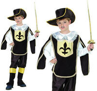 Childrens Kids 3 Musketeers Fancy Dress Costume Boys Outfit L