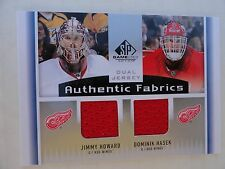 Dominik Hasek Jimmy Howard 2013/14 UD SP Game Used Authentic Fabrics Dual Jersey