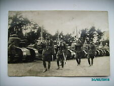 ESTONIA PRE WW II , TANK REGIMENT PARADE, RPPC