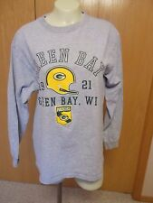 Green Bay Packers Mens Gray Long Sleeve T-Shirt Size Large  NFL Team Apparel