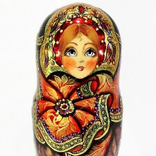 GORGEOUS AUTHOR'S RUSSIAN MATRYOSHKA EXCLUSIVE BEST QUALITY NESTING DOLLS 7PCS