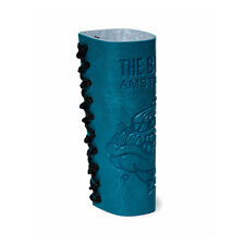 ★PORTA ACCENDINO CLIPPER LARGE THE BULLDOG AMSTERDAM IN SIMIL PELLE AZZURRO★