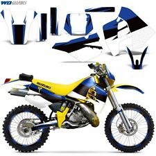 Decal Graphic Kit Suzuki RMX 250 RMX250 Dirt Bike Sticker w Backgrounds 89-98 RB