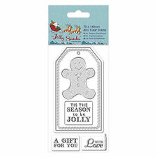 GINGERBREAD MAN - 75x140mm Mini Clear Stamp Set - DoCrafts