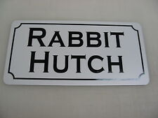 RABBIT HUTCH Metal Sign Ranch Golf Course Texas Dairy Farm Cattle Cow Bull