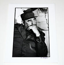 CARLOS MAYOL Fine Art B&W Cuban original silver photograph.Fidel Castro.Thinking