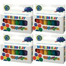 4 Packs of Mini Modelling Clay - Fun Childrens Toys / Stocking Fillers