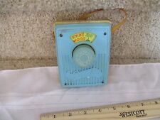 Vintage Fisher Price Pocket Radio Music Box works Its a Small World yellow strap