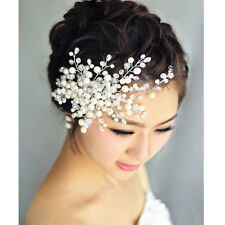 Fashion Charm Bride Crystal Pearl&Rhinestone Headpiece Bridal Wedding Hair Comb