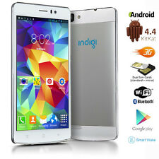 "Indigi® GSM Unlocked Duo Core 5.5"" Android 4.4 3G Smart Cell Phone AT&T T-Mobile"