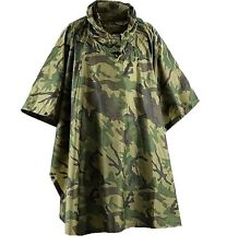 GENTS RIP-STOP WATERPROOF WINDPROOF PONCHO Mens Camo army jacket basha shelter