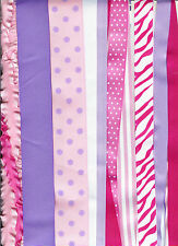 Grosgrain ribbon  mix 25 yards pink and lavender mix 1/4 to 2 inch ribbon Lot 2