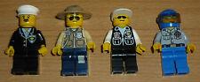 Lego City 4 verschiedene Polizisten + 4 Kopfbedeckungen (1)