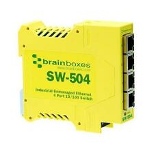 Brainboxes Industrial Unmanaged Ethernet Switch - 4 Ports - 4 x RJ-45 SW-504