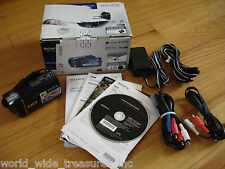 Sony HDR-CX160 High Definition Camcorder Software Manual AC AV Cable Battery Box