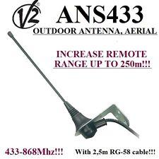 433MHz-868MHz Antenne,Antenna,Aerial V2 ANS433,50 Ohm RG58,Torantrieb Garagentor