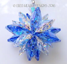 m/w Swarovski Mini SUPER STAR Blue AB Car Charm Suncatcher Lilli Heart Designs