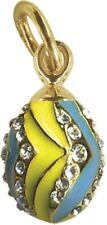 Faberge Egg Pendant / Charm with crystals 1.6 cm #0849-4