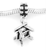 STERLING SILVER ADIRONDACK CHAIR EUROPEAN STYLE DANGLE BEAD