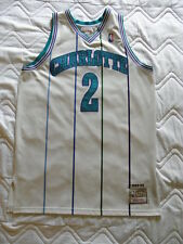 Mitchell Ness M&N Authentic Charlotte Hornets Larry Johnson jersey sz 48 OG XL