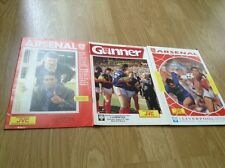 Arsenal vs Liverpool match programmes from 1987 amd 1990