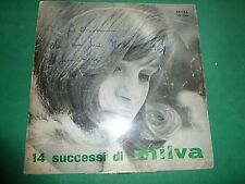 MILVA - 14 SUCCESSI DI MILVA  autografato