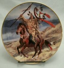 Collector Plate-Franklin Mint Western Heritage Museum-Valiant Warrior-NativeAmer
