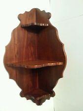 Vintage Corner Wooden Wall Sconce Shelf Display