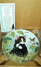 Kitten Appeal Fine Porcelain Cat Plate and Holder BUTTERCUPS AND DAISES ~ NEW