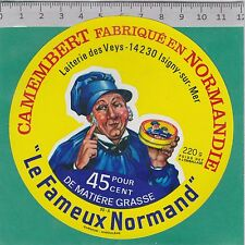 J124  FROMAGE CAMEMBERT 220 GR LES VEYS MANCHE  ISIGNY SUR MER CALVADOS