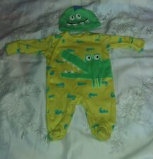 Next Green Crocodile Babygrow & Hat First Size New without Tags