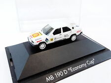 Herpa 100625 Mercedes Benz 190 D Economy Cup PC Vitrine 1:87